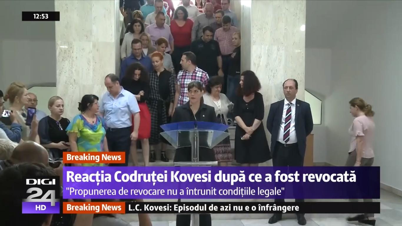 Kovesi a fost plasată sub control judiciar kovesi ghita kovesi parchetul european Europarlamentarii liberali au fost mandataţi de Biroul Executiv al partidului să susţină candidatura Laurei Codruţa Kovesi la funcţia de procuror-şef al Parchetului European fostul şef al DNA Kovesi la raport