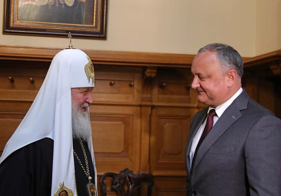 Foto: Facebook/Igor Dodon Războiul ortodoxiei răsăritene