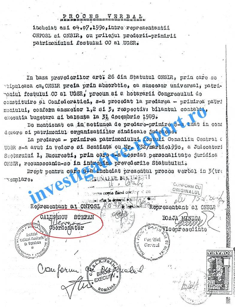 Procesul verbal falsificat din 4 iulie 1990 Victor Ciorbea, cercetat penal de DNA pentru preluarea frauduloasă a averii sindicaliștilor, scapă prin prescrierea faptei