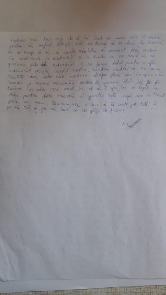 scrisoare emoționantă nelu măceșanu tatăl alexandrei măceșanu