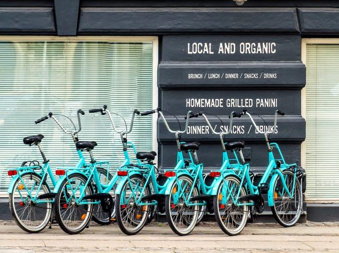 parcări de biciclete în zonele publice
