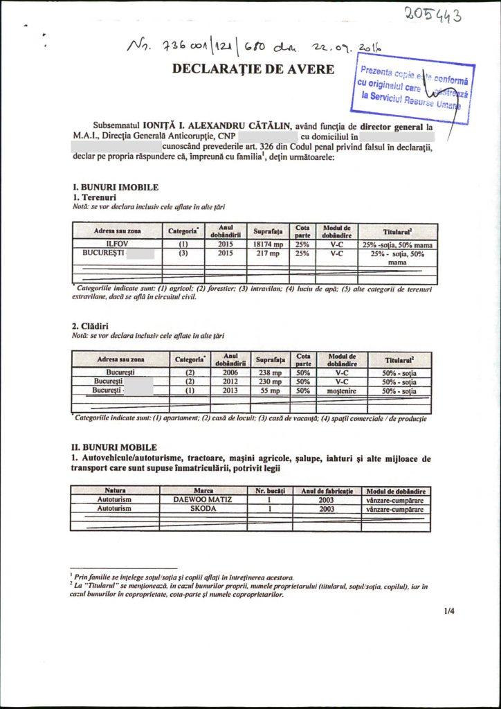 catalin ioniță certificat orniss